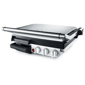 Breville XX800GRXL Factory-Reconditioned Die-Cast Indoor Barbeque and Grill, Stainless