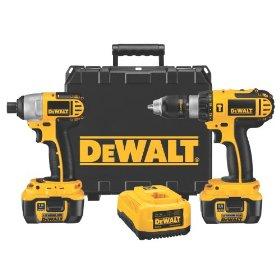 DEWALT DCK274L 18-Volt Cordless Hammerdrill/Impact Driver Combo Kit with XRP Li-Ion Battery Packs