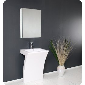 Fresca Quadro Pedestal Sink - Modern Bathroom Vanity