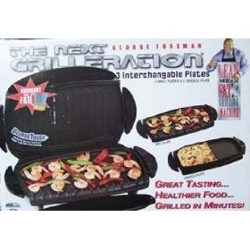 George Foreman GRP54G Next Grilleration Standard Grill w/Griddle Plate