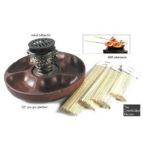 Mini Hibachi Grill & Pu Pu Platter Set