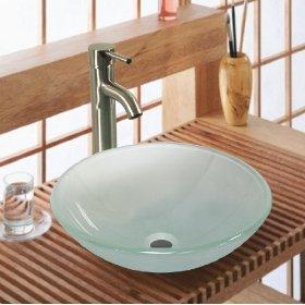 New Tempered Glass Vessel Sink Vanity Bathroom Bath Sink Premium Quality