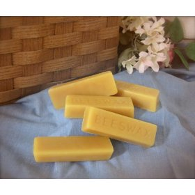(5 Bars) 100% ORGANIC Hand Poured Beeswax - 1oz each - Premium Quality, Cosmetic Grade, Triple Filtered Bees Wax: Health & Personal Care