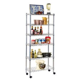 Ever Concept 6-Tier Rolling Storage Cart: Home & Kitchen
