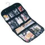 Household Essentials 06910 Ten Pocket Hanging Cosmetics/Grooming Bag, Black: Home & Kitchen
