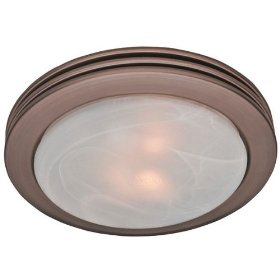 Hunter 90058 Bathroom Fan & Light Imperial Bronze Saturn: Home Improvement