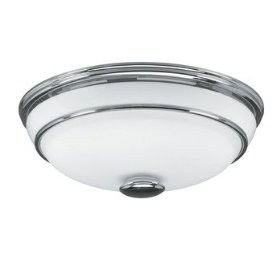 Hunter Exhaust Fan with light 81021 Victorian Bathroom Fans Chrome CFM = 90, Sones = 2.5: Home Improvement