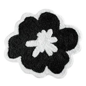 InterDesign Fiore Rug, Black and White: Home & Kitchen