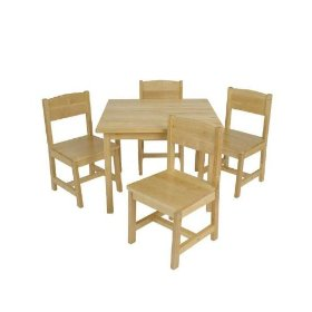 KidKraft Farmhouse Table & Chair Set: Kid Kraft: Toys & Games