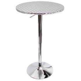 LumiSource Bistro Hydraulic Bar Table, Chrome: Home & Kitchen