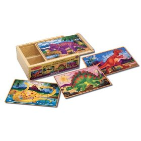 Melissa & Doug Deluxe Dinosaur in a Box Jigsaw Puzzles: Toys & Games