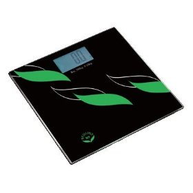 NewlineNY Flowing Leaves Sense On Digital Bathroom Scale, 400 lb Capacity: Health & Personal Care