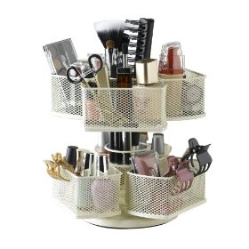 Nifty Cosmetic Organizing Carousel, Cream: Beauty