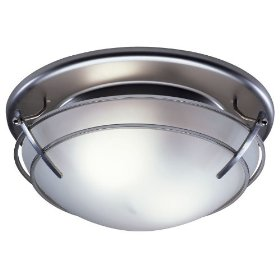 Nutone 757SNNT Decorative Bath Fan with Light Satin Nickel 2-60W bulbs: Home Improvement