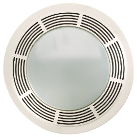 Nutone 8664RP 100 CFM 3.5 Sones Designer Fan/Light, Round White Grille with Glass Lens: Home Improvement