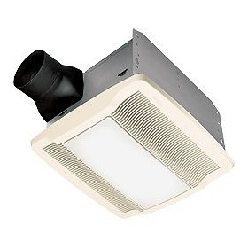 Nutone QTREN080FLT Ultra Silent Bath Fan with Light White Grille 80 CFM Energy Star: Home Improvement