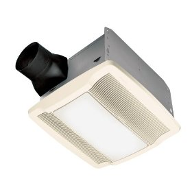 Nutone QTRN080L Ultra Silent Bath Fan with Light 100W Incandescent Lighting 4W Night Light 80 CFM: Home Improvement