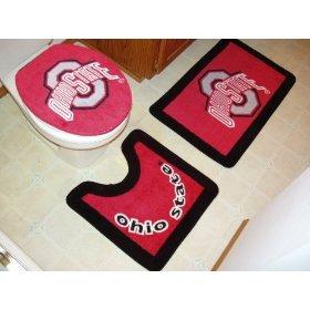 Ohio State 3 Piece Bath Rug Set: Sports & Outdoors