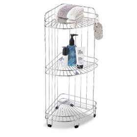 Organize It All 1755 3 Tier Corner Shower Caddy, Chrome: Home Improvement