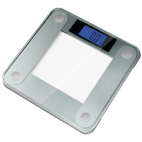 Ozeri Precision II Digital Bath Scale (440LB Edition) with Widescreen Blue Xbright LCD and Step-on Activation: Health & Personal Care