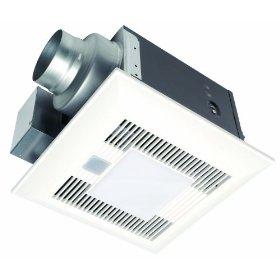 Panasonic FV-08VKML3 WhisperGreen-Lite 80 CFM Ceiling Mounted Ventilation Fan with DC Motor, Variable Speed Controls, Motion Sensor, and Light, White: Home Improvement