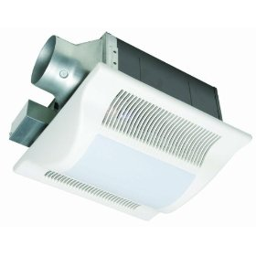 Panasonic FV-11VFL2 WhisperFit-Lite 110 CFM Low Profile Ceiling Mounted Fan with Light, White: Home Improvement