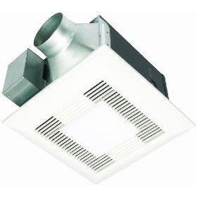 Panasonic FV-11VQL5 WhisperLite 110 CFM Ceiling Mounted Fan/Light Combination, White: Home Improvement