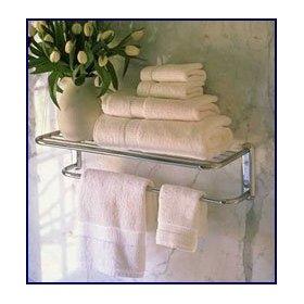 Polished Chrome Train Rack or Hotel Towel Shelf with Bar - 24: Home Improvement