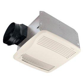 Broan Model QTXE110S 110 CFM Ultra Silent Humidity Sensing Fan, White Grille: Home Improvement