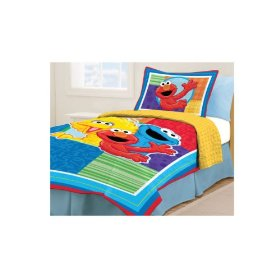 Sesame Street Twin Bed Set: Home & Kitchen