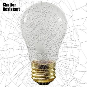 Shatter Resistant - 25 Watt - A15 - Frosted - 130 Volt - Appliance Light Bulb - 25A15/TF: Home Improvement