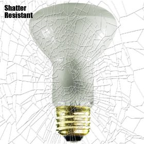 Shatter Resistant - 45 Watt - R20 Long Neck - Reflector Flood - Tough Coated - 130 Volt - Medium Base - Incandescent Light Bulb: Home Improvement