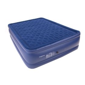 Smart Air Beds Diamond Top Elite Queen Raised Pillowtop Air Bed, Blue: Sports & Outdoors