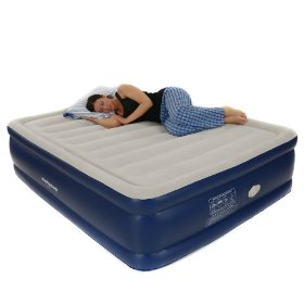 Smart Air Beds Platinum Queen Raised Air Bed with Remote Control, Blue: Sports & Outdoors
