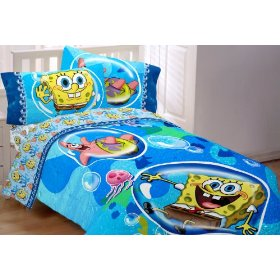 Sponge Bob Bubble Surprise Twin/Full Comforter: Home & Kitchen
